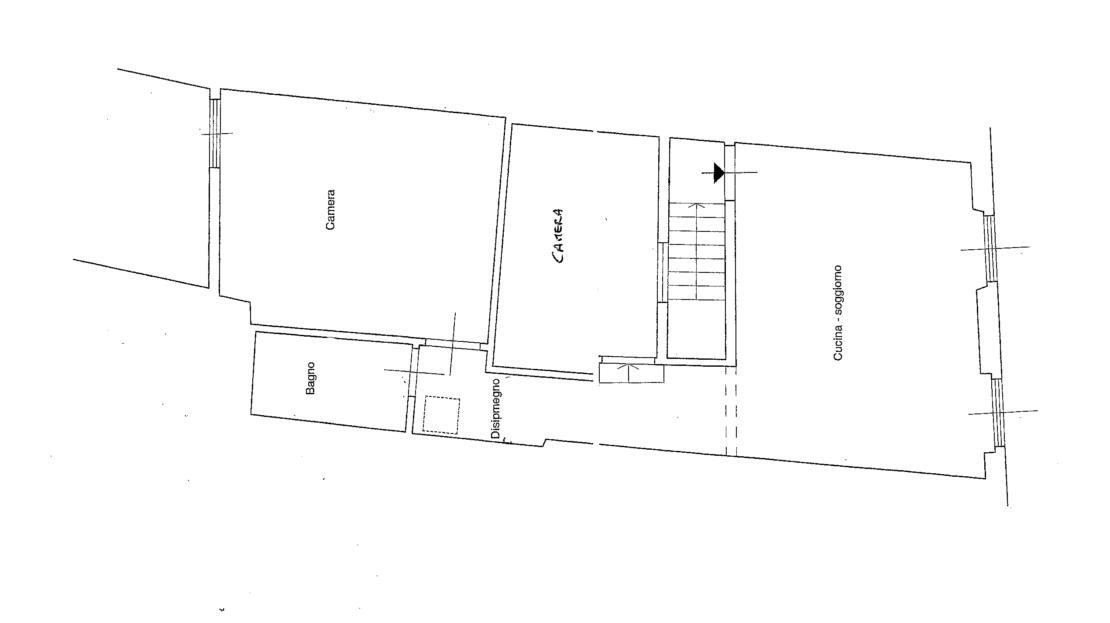 Appartamento in via dei Serragli Planimetria