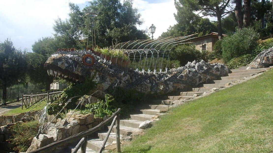 Giardino del dragone nei pressi della casa in vendita in via trieste