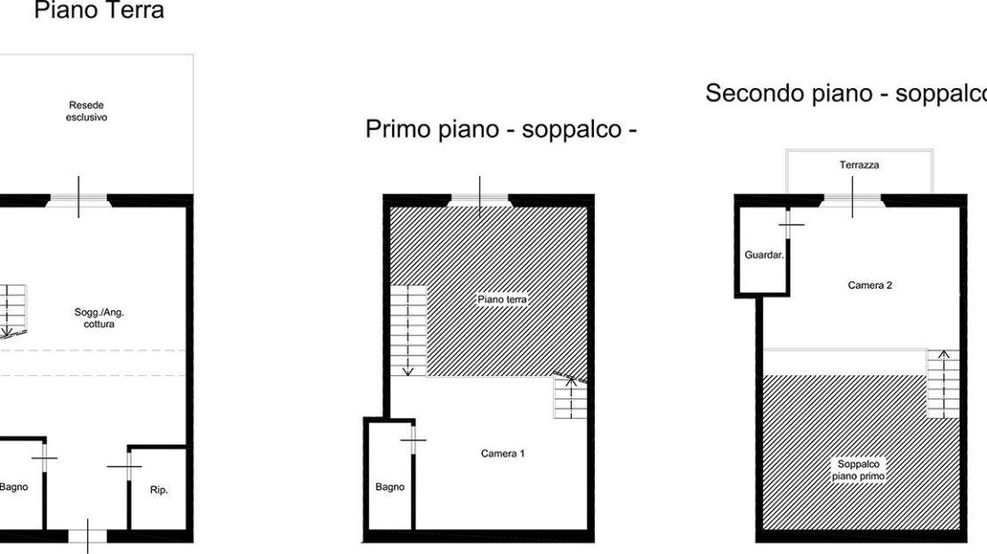 Casa in vendita in via Trieste planimetria