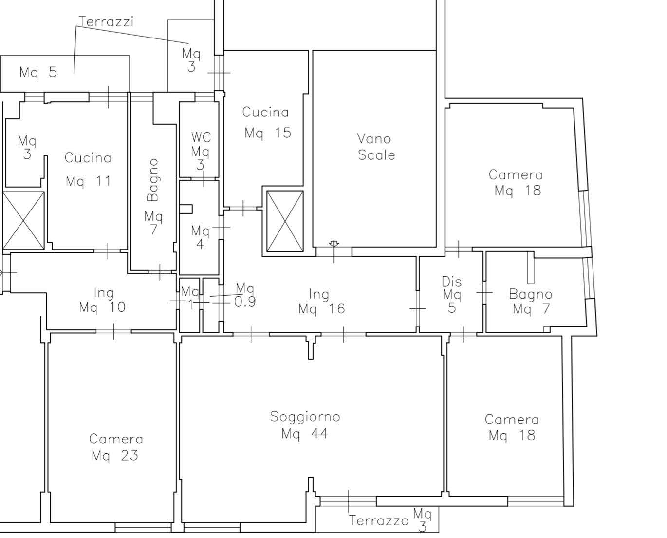 Apartment in Viale Redi plan